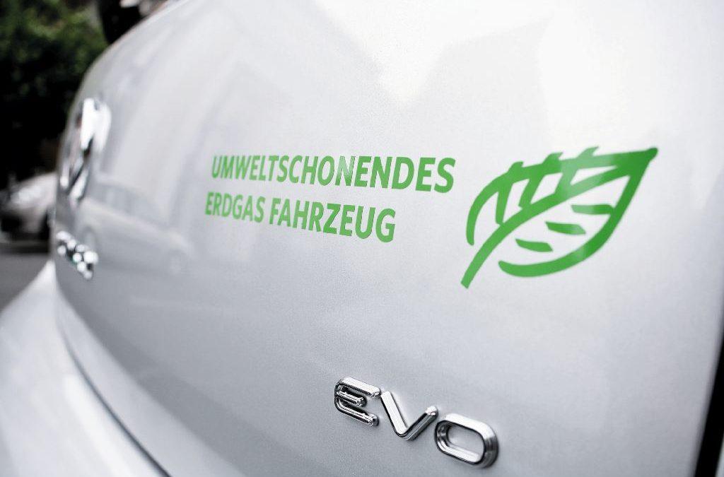 Aufkleber auf der Heckklappe von einem VW