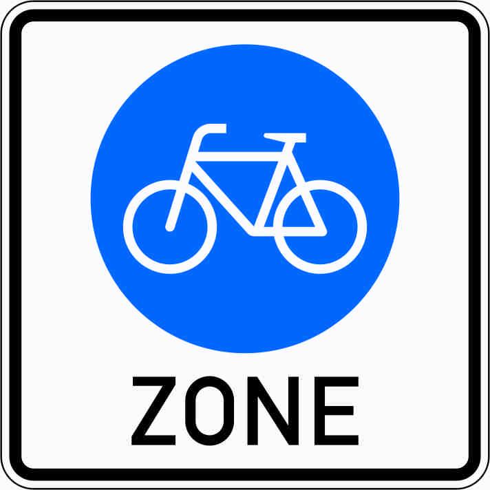 Verkehrszeichen mit einem Fahrrad im blauen Kreis (Bußgeldkatalog 2020)